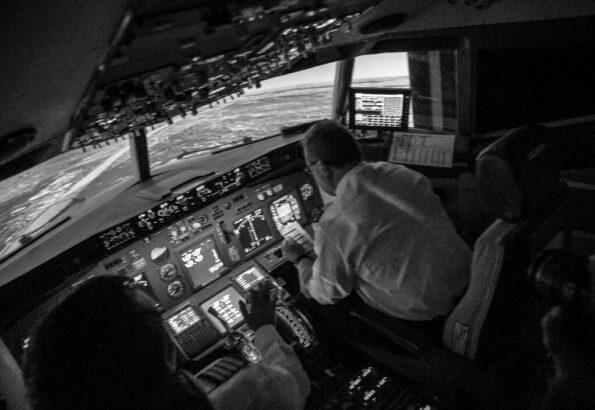 simulator Boeing 737 night (1)