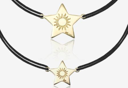 Cadou pentru mama si fiica set de bratari Lucky Star si atelier online de pictura pe textile - complice.ro