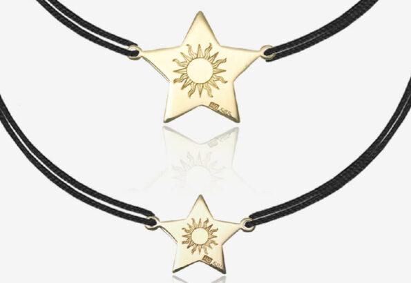 Cadou pentru mama si fiica set de bratari Lucky Star si atelier online de pictura pe textile
