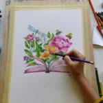 5 sesiuni online de pictura cu acrilice pe panza cu Ana-Maria Galateanu