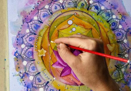 Cadou - 5 sesiuni online de pictura cu acrilice pe panza cu Ana-Maria Galateanu
